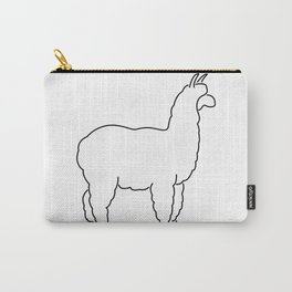 Alpaca Lineart Drawing Carry-All Pouch