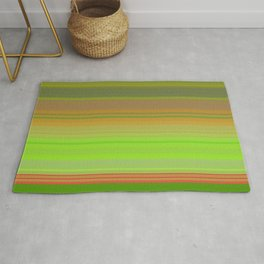 green horizontal lines Rug