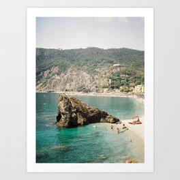 Beach view Monterosso al Mare, Cinque Terre | Italy Coast | Travel Photography Print  Art Print