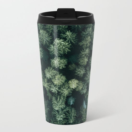 Forest from above - Landscape Photography Metal Travel Mug