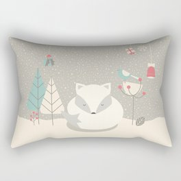 Christmas baby fox 05 Rectangular Pillow