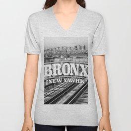 Bronx New York 'New Yawhk' Est. 1788 Unisex V-Neck