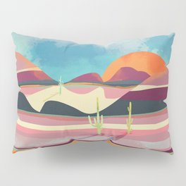 Pink Desert Glow Pillow Sham
