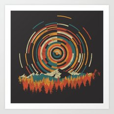 The Geometry of Sunrise Art Print