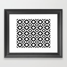 Abstract geometric pattern - black and white. Framed Art Print