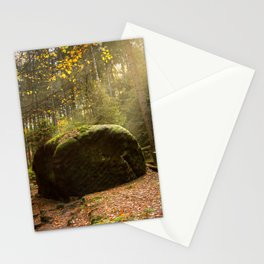 Large Boulder in Elbe Sandstone Mountains Stationery Cards