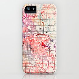 Grand Rapids map Michigan painting iPhone Case