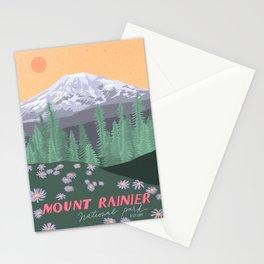 Mount Rainier National Park, Vintage Style Stationery Cards