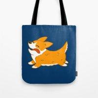 corgi Tote Bags featuring Corgi!! by mecantdraw