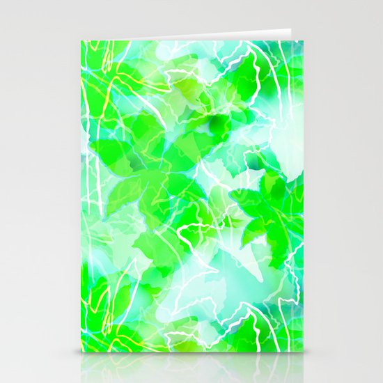 Tropical green Stationery Cards
