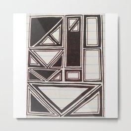 Squares Squared  Metal Print