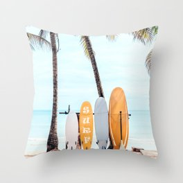 Choose Your Surfboard Throw Pillow