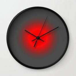 Red & Gray Focus Wall Clock