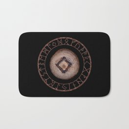 Ingwaz Elder Futhark Rune Male fertility, gestation, internal growth. Common virtues, common sense Bath Mat