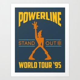 Powerline World Tour 95' Concert Tee Kunstdrucke