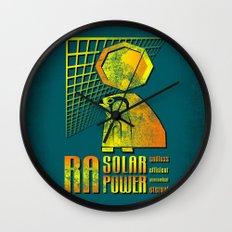 Ra Solar Power Wall Clock