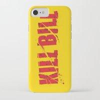 kill bill iPhone & iPod Cases featuring Kill Bill by Osman SARGIN
