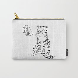 Cat with coffee Carry-All Pouch