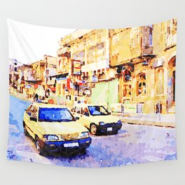 Aleppo: Taxi through the streets of Aleppo Wall Tapestry