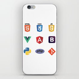 Developers Stickers  9 in 1 iPhone Skin