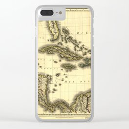 Map of the West Indies and Mexican Gulf (1806) Clear iPhone Case