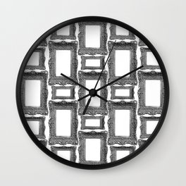 Antique Frame black and white #1 Wall Clock