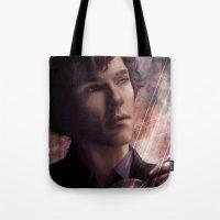 sherlock Tote Bags featuring Sherlock by jasric