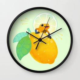 Golden poison lemon sherbet 1 Wall Clock