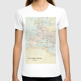 Vintage Map Of The Roman Empire T-shirt