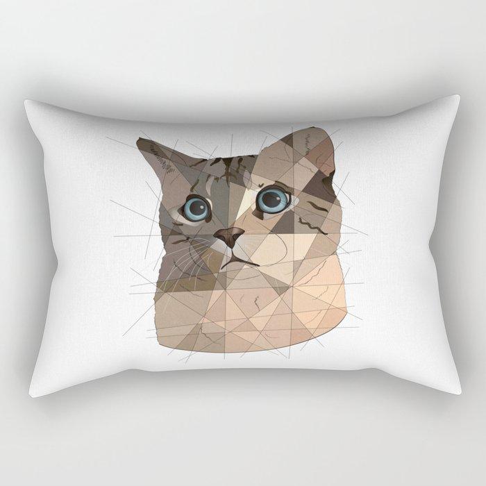 Cat Shapes Rectangular Pillow