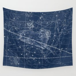 Aries sky star map Wall Tapestry