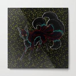 Neon Kitsune Metal Print
