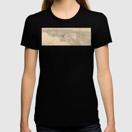 Vintage 1915 Los Angeles Area Map T-shirt