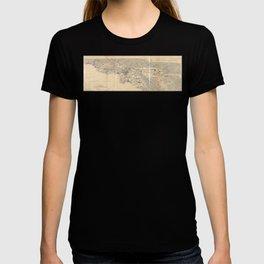 Vintage 1915 Los Angeles Area Map T-shirt