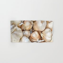 Garlic bulbs Hand & Bath Towel