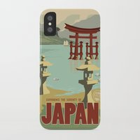 travel poster iPhone & iPod Cases featuring Kaiju Travel Poster by Duke Dastardly