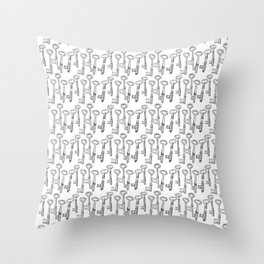 Skeleton Keys Throw Pillow