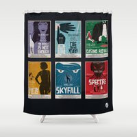 bond Shower Curtains featuring Bond #4 by Alain Bossuyt