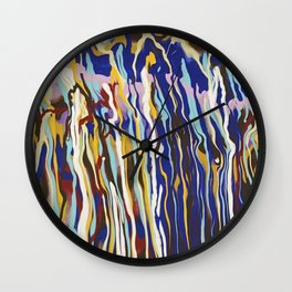 Music Jazz Abstract pattern wave Wall Clock