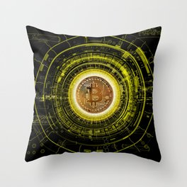 Bitcoin Blockchain Cryptocurrency Throw Pillow