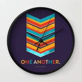 One Another Scripture Poster (Leviticus) Wall Clock