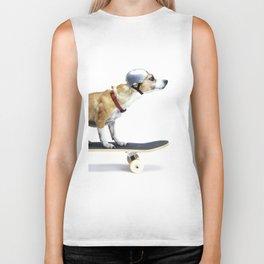 Skate Punk - Skateboarding Chihuahua Dog inTiny Helmet Biker Tank