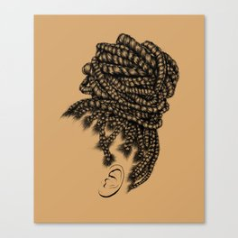 Crown: Box Braid Bun Canvas Print