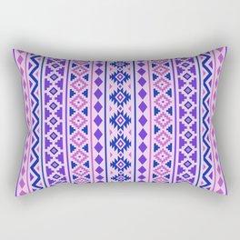 Aztec Essence Pattern II Pinks Blue Purple Rectangular Pillow