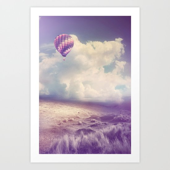 BALLOON FLIGHT Art Print