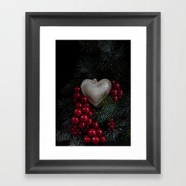 Heart in Christmas. Framed Art Print