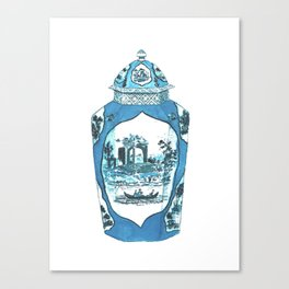 ROYAL WORCESTER JAR Canvas Print