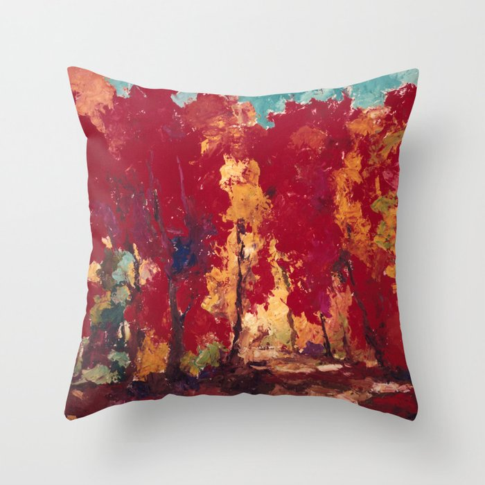 Strange Day in a Forest Throw Pillow