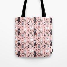 Jiji Cat Pattern Tote Bag