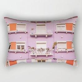 The purple building Rectangular Pillow